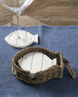 RIVIERA MAISON RUSTIC RATTAN HAPPY FISH COASTER 4 PCS