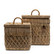 RIVIERA MAISON RUSTIC RATTAN DIAMOND WEAVE BOX SET OF 2 PCS
