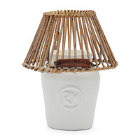 RIVIERA MAISON CLAY CANDLE HOLDER WHITE