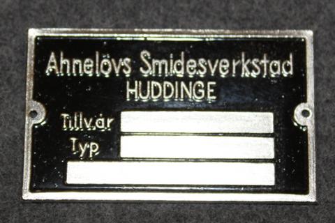 Ahnelövs Smidesverkstad, Huddinge