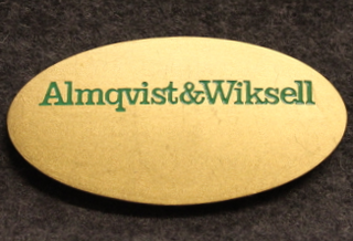Almqvist & Wiksell Tryckeri AB, painotalo, nimikilpi