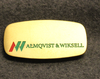 Almqvist & Wiksell Tryckeri AB, AW, painotalo, nimikilpi