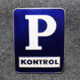 P Kontrol. Danish parking monitor ( police ), cap badge, large