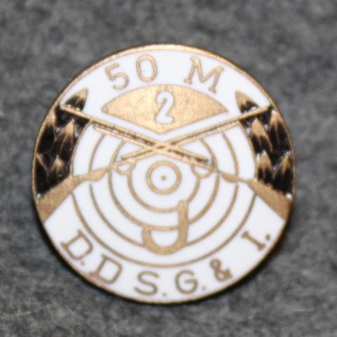 D.d.s.g. & i, De Danske Skytte-, Gymnastik- og Idrætsforeninger, ampumamerkki, 50m J