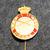D.d.s.g. & i, De Danske Skytte-, Gymnastik- og Idrætsforeninger, ampumamerkki, 15m punainen kruunulla