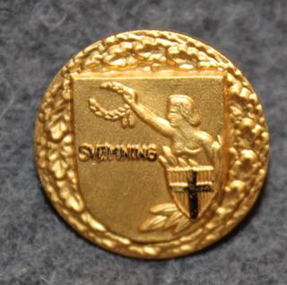 D.d.s.g. & i, De Danske Skytte-, Gymnastik- og Idrætsforeninger, uimamerkki, kullattu