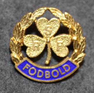 RSF Fodbold, jalkapallomerkki, 925 hopeaa, gilt