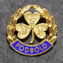 RSF Fodbold, football pin, 925 silver, gilt