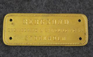 Bergsunds Engineerin & Shipbuilding Co. Stockholm.