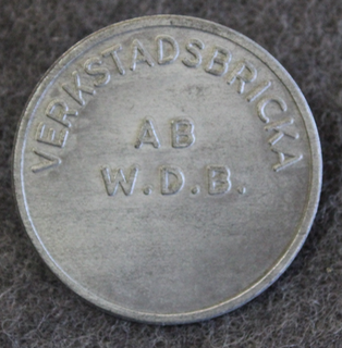 AB W. Dan Bergman, Södertälje, verkstadsbricka