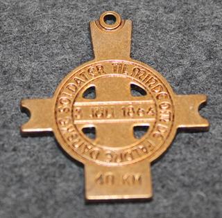 Lundbymarchen, muistomarssimerkki 3.7.1864 taistelulle. 40km