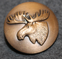 Moosehead, swedish hunters association. 25mm, old model, bronze