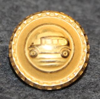 Autonkuljettaja / kuski, ruotsalainen, vanha kuva, 17mm, kullattu