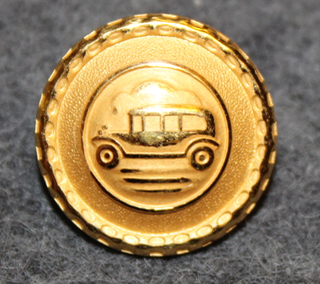 Autonkuljettaja / kuski, ruotsalainen, vanha kuva, 17mm, kullattu v2
