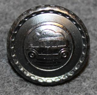 Autonkuljettaja / kuski, ruotsalainen, vanha kuva, 17mm, musta