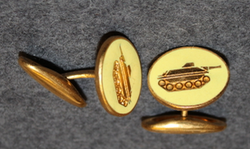 Swiss army, armor troops, cufflink