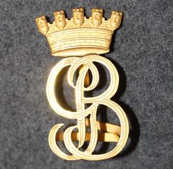 G B. Brandkår siffror. Firebrigade shoulder insignia. LAST IN STOCK