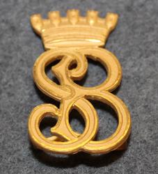 S. B. Brandkår siffror. Firebrigade shoulder insignia.
