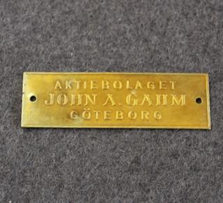 Aktiebolaget John A Gahm, Göteborg