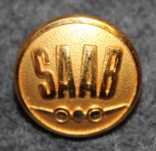 Saab, Svenska Aeroplan AB, autojen ja lentokoneiden valmistaja. 13mm kullattu