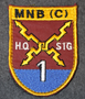 Finnish KFOR ( kosovo force ) patch, MNB (C) HQ SIG 1, multinational bat. signalists.