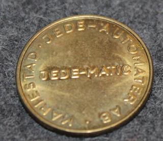 Jedematic Hot-Cup, kahviautomaattirahake, Jedeautomater AB, Mariestad. 19mm, v2