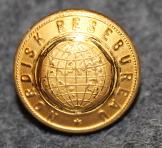 Nordisk Resebureau, matkatoimisto, 13mm kullattu