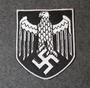 Saksan kotka, kypärämalli, ommeltava kangasmerkki