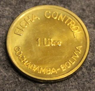 PIL Ficha Control 1litre, Cochabamba - Bolivia, maitorahake