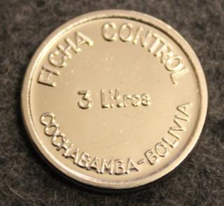 PIL Ficha Control 3litros, Cochabamba - Bolivia, maitorahake