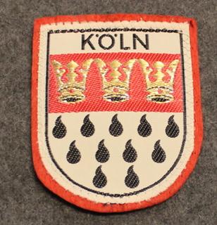 Köln, matkamuisto kangasmerkki, huopa.