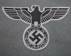 Reichsadler, 3rd reich emblem. 30x19cm Black on gray, sew on patch