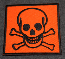 Toxic, sew on patch