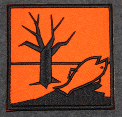 Environmental Hazard, sew on patch