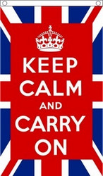 Keep Calm and Carry On, UK, Flag 150x90cm