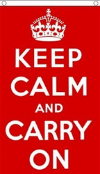 Keep Calm and Carry On, lippu 150x90cm