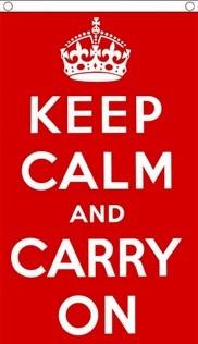 Keep Calm and Carry On, lippu 150x90cm