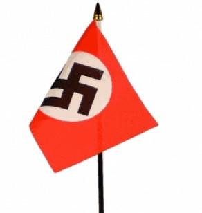 WW2 lippu: NSDAP 15x10cm, pöytä / ajoneuvolippu