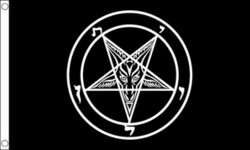 Baphomet Church of Satan Flag, Flag 150x90cm