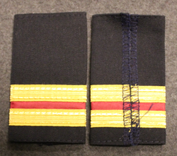 Epaulettes / Rank Slides, Finnish Merchant navy. Red