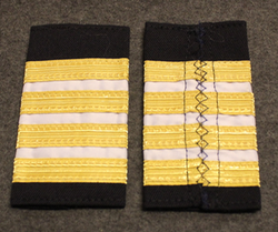 Epaulettes / Rank Slides, Finnish Merchant navy. White