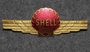 Shell Aviation Fuel, badge, old type.