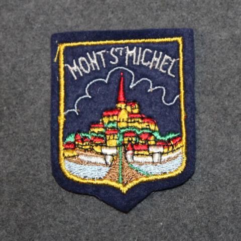 Mont st Michel, matkamuisto kangasmerkki. Huopapohja.