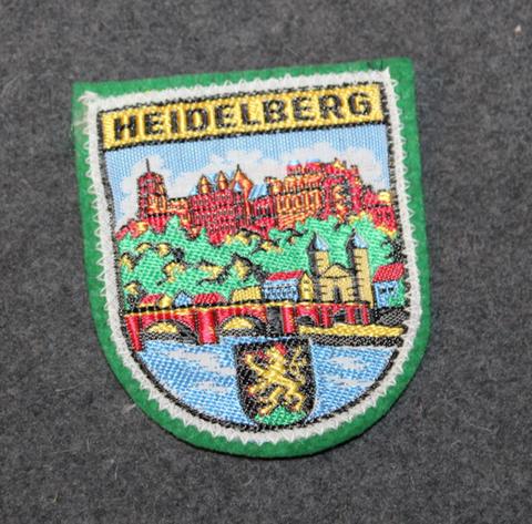 Heidelberg, matkamuisto kangasmerkki.