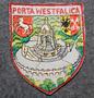 Porta Westafalica, matkamuisto kangasmerkki.