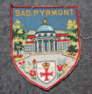 Bad Pyrmont, souvenir patch.