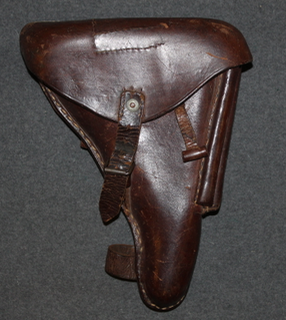 Finnish Army WW2 holster for Parabellum M/23 with / wood stock loops