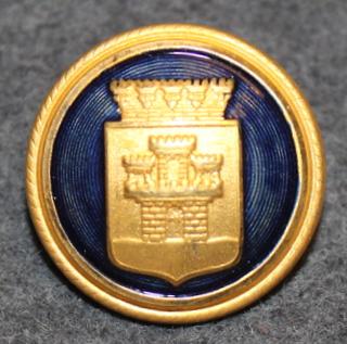 Jönköpings kommun. Ruotsalainen kunta, 23mm kullattu / sininen
