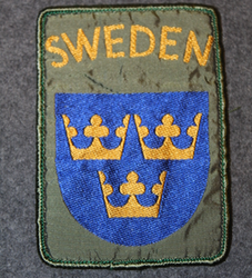 Swedish international operations, shoulder-sleeve patch.
