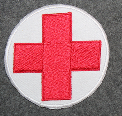Medic, red cross, sanitary equipment patch